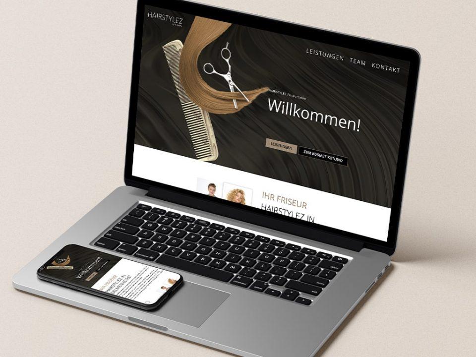 Webdesign Referenz Hairstylez Webseite | ARTKURAT