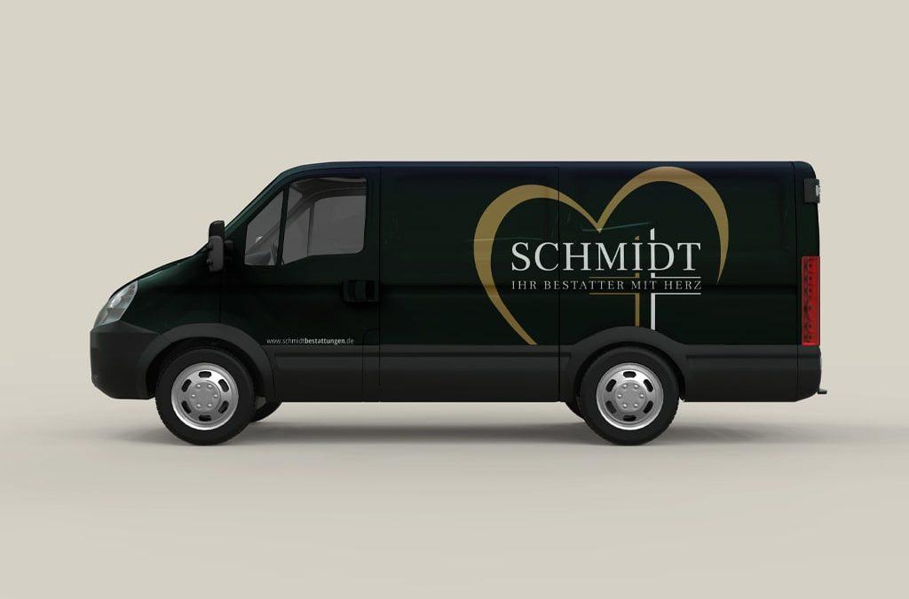 Außenwerbung Referenz Schmidt Fahrzeugfolierung