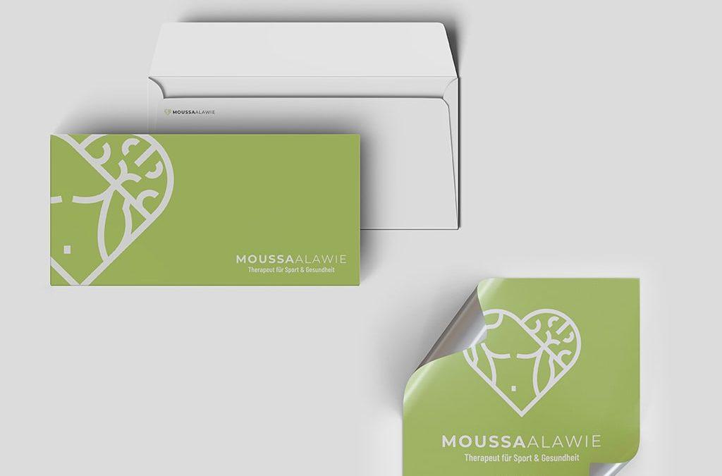 Print Referenz Briefumschläge & Sticker Moussa Alawie