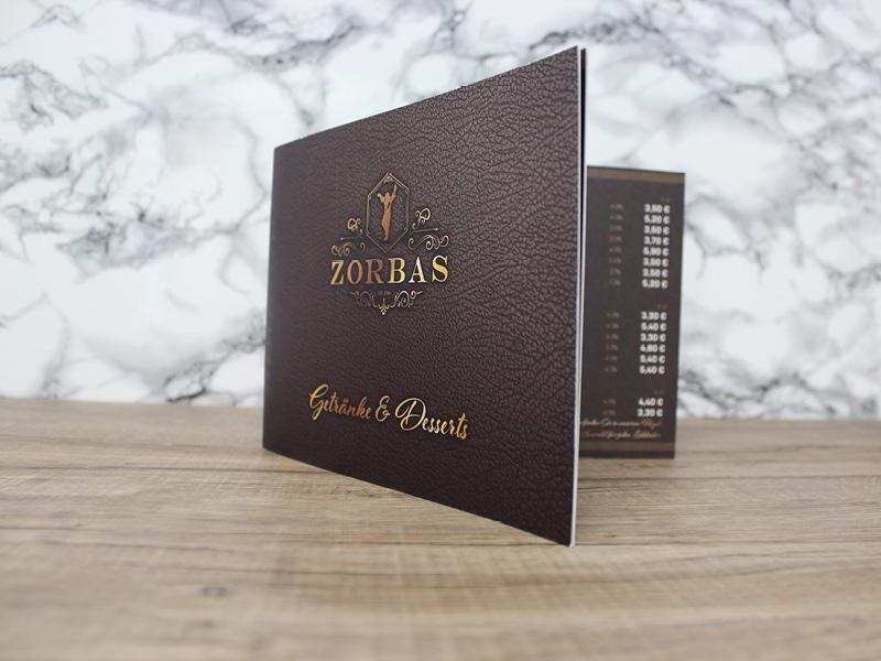 Zorbas Hude Getränkekarte