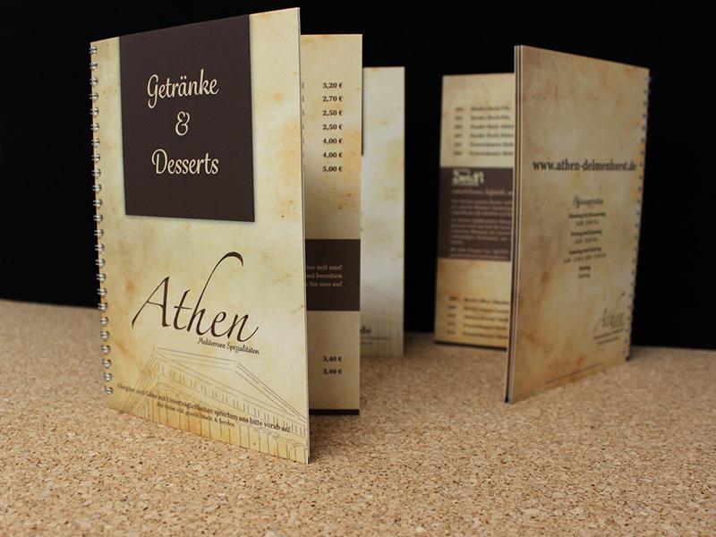 Restaurant Athen Getränkekarte