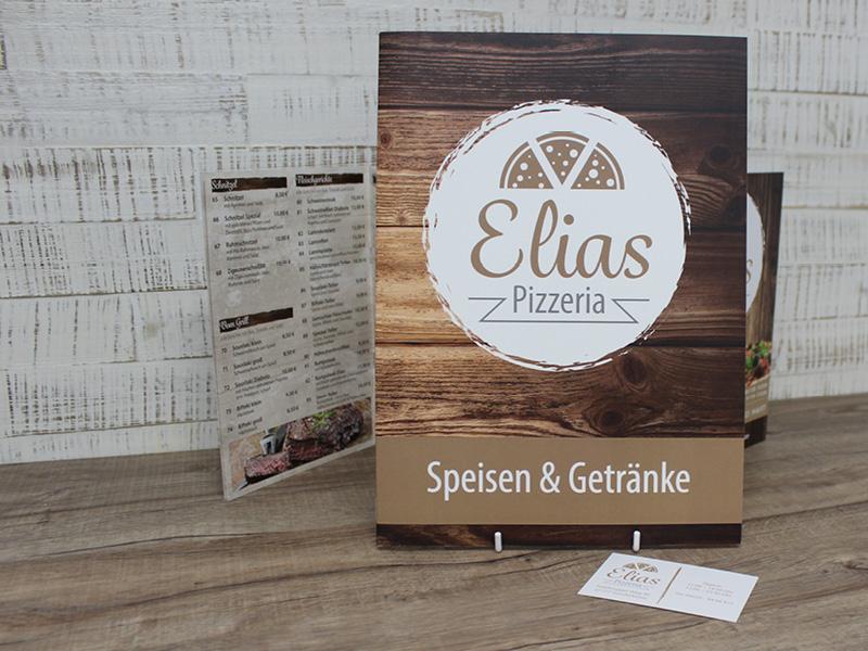 Kreation. & Print. - Elias Pizzeria | ARTKURAT ® Werbeagentur - Bremen, Delmenhorst, Oldenburg | Kreativ im Detail.