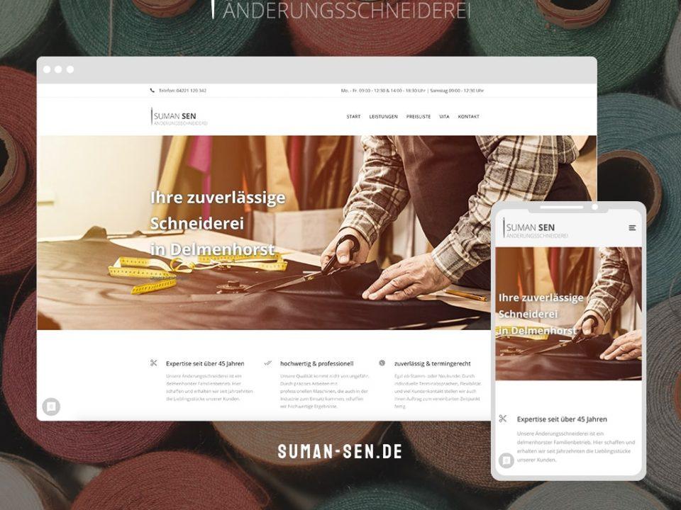 Referenz Webdesign Änderungsschneiderei Suman Sen | ARTKURAT ® Werbeagentur