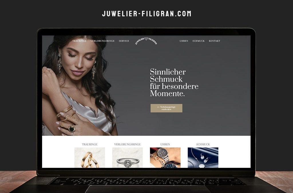 Webdesign Referenz Juwelier Filigran | ARTKURAT ® Werbeagentur