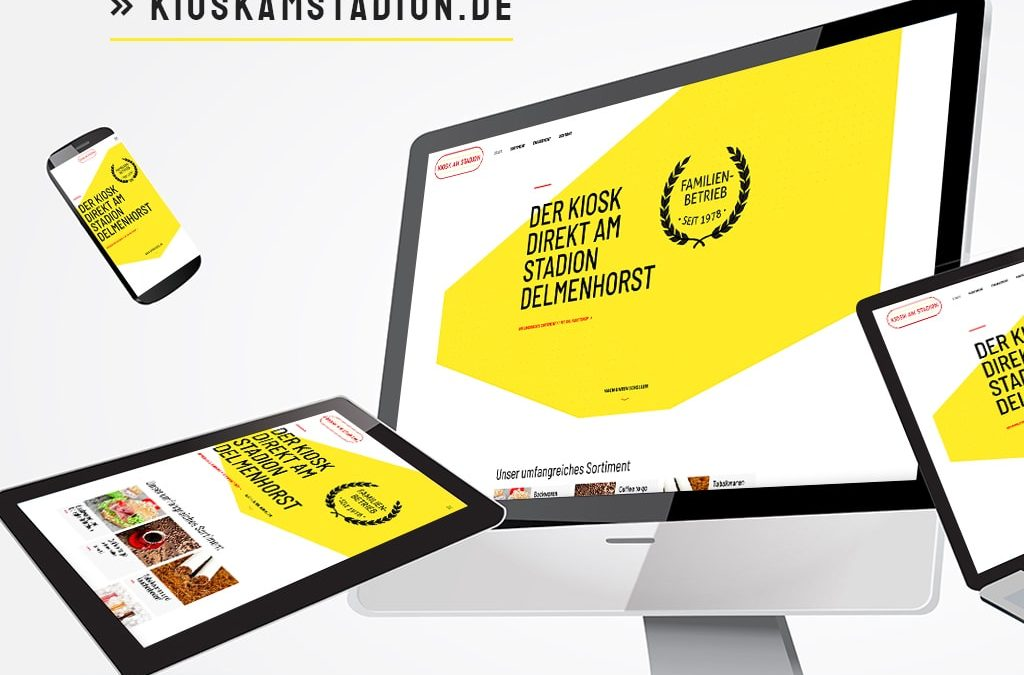Webdesign Referenz Kiosk am Stadion | ARTKURAT ® Werbeagentur