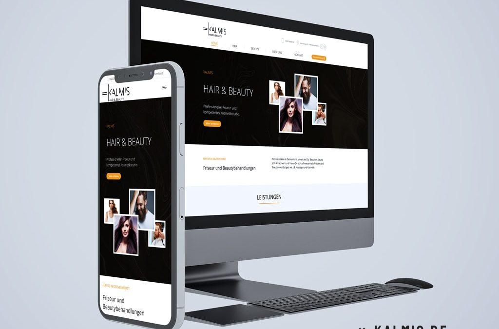 Webdesign Referenz Kalmis - Hair & Beauty