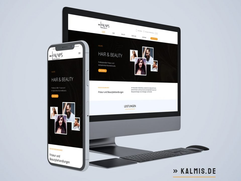 Webdesign Referenz Kalmis - Hair & Beauty