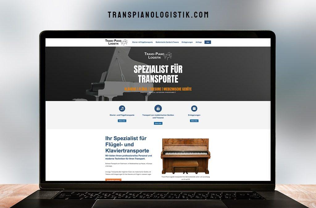 Webdesign Referenz Trans-Piano Logistik   ARTKURAT ® Werbeagentur
