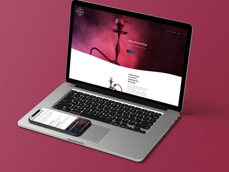 Webdesign und Logo Referenz Little Shisha Shop