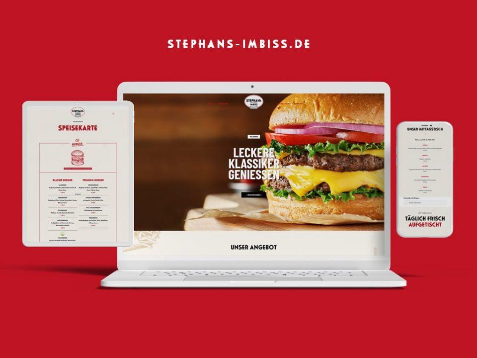 Webdesign Referenz Stephans Imbiss