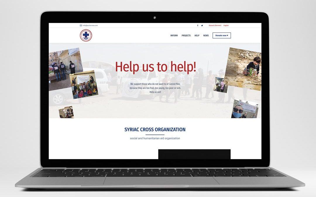 Webdesign Referenz Syriac Cross   ARTKURAT
