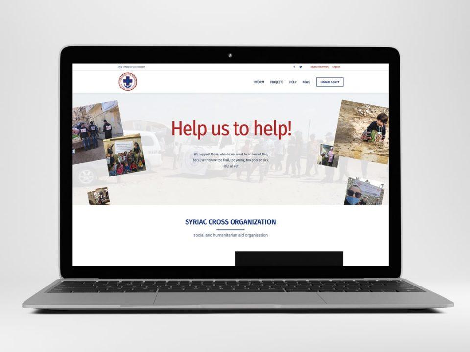 Webdesign Referenz Syriac Cross | ARTKURAT
