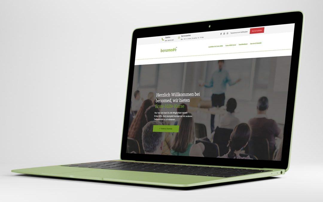 Webdesign Referenz benomed