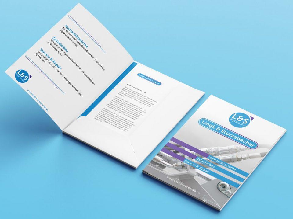 Corporate Design Referenz L&S Logo Redesign und Folder | ARTKURAT ® Werbeagentur