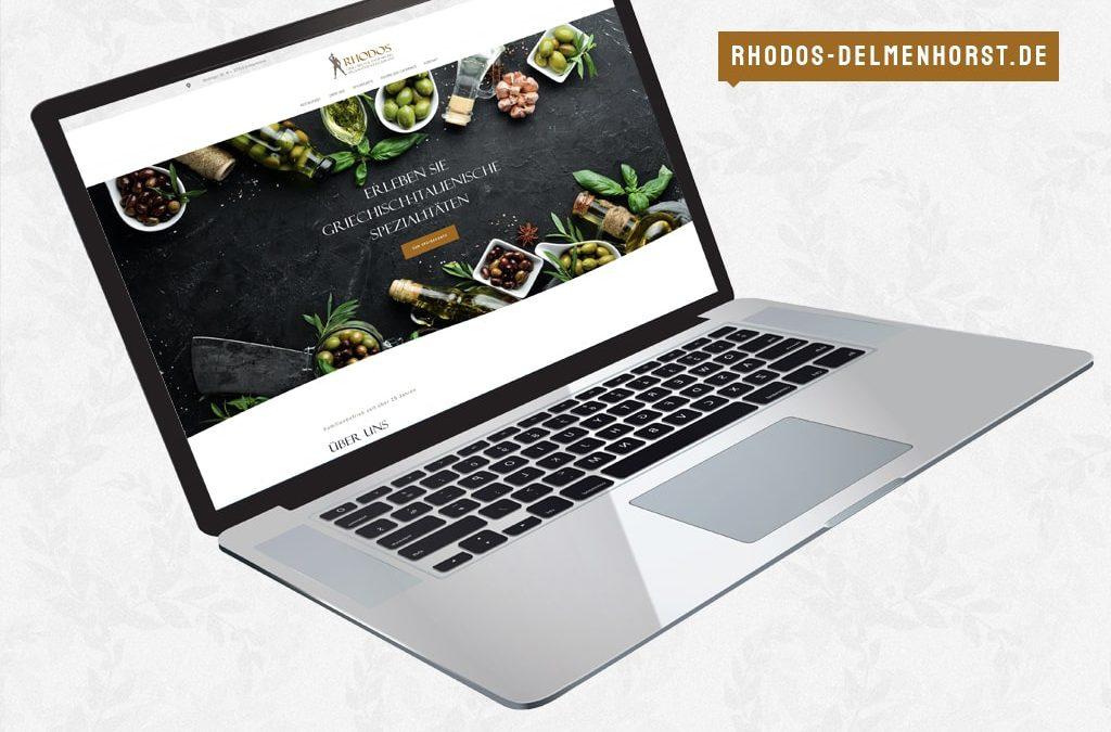Referenz Webdesign Restaurant Rhodos   ARTKURAT ® Werbeagentur
