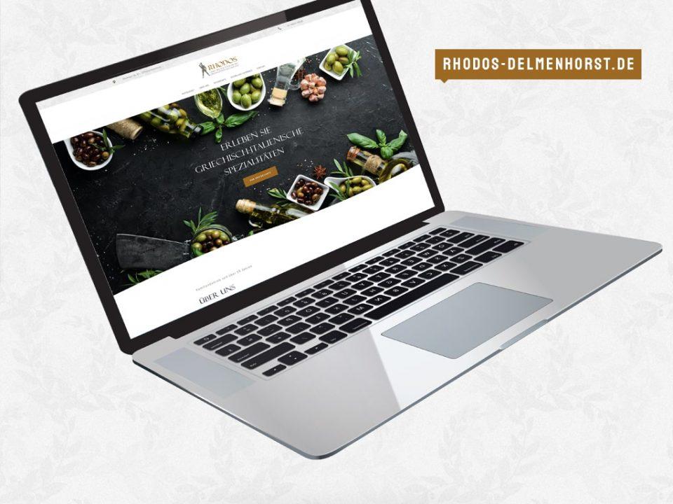 Referenz Webdesign Restaurant Rhodos | ARTKURAT ® Werbeagentur