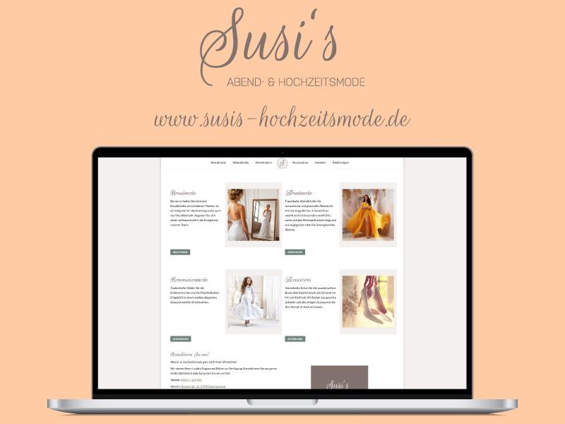 Webdesign. - Susi's Hochzeitsmode | ARTKURAT ® Werbeagentur - Bremen, Delmenhorst, Oldenburg | Kreativ im Detail.